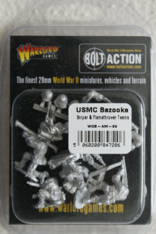 Warlord Games 28mm WGB-AM-29 USMC Bazooka, Sniper & Flamethrower Teams